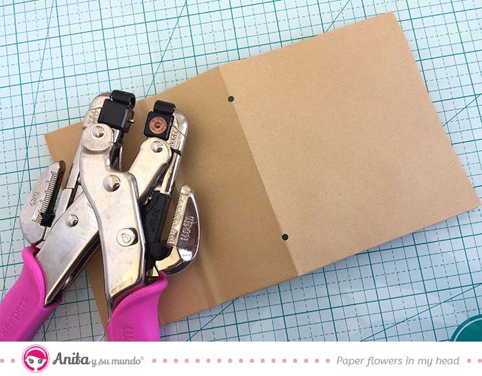 encuadernación fácil con perforadora