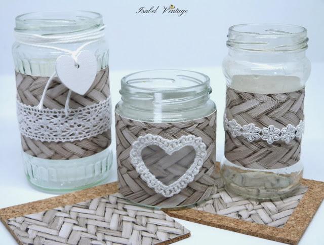 frascos-posavasos-decorados-papel-pintado
