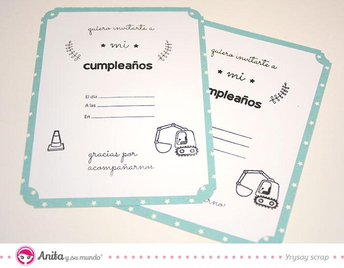 invitaciones cumpleaños infantil sellos anita