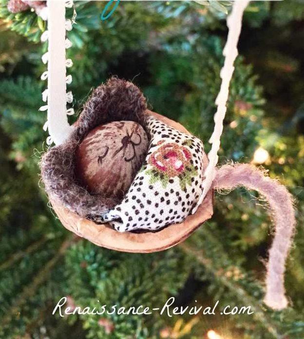 Manualidades de Navidad - Adornos para el arbol de ratoncitos dormidos