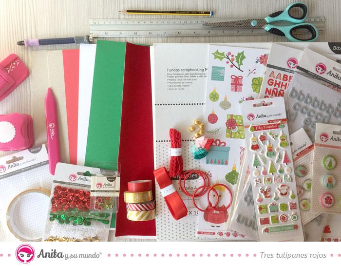 material scrapbooking diario de navidad