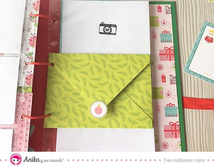 página con sobres álbum navidad