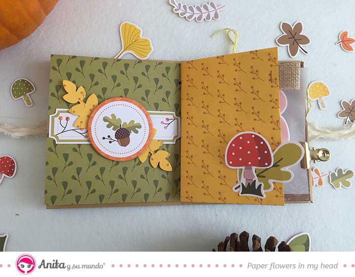 página de scrapbooking de otoño