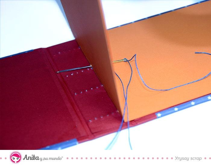 pasos para encuadernar cosiendo