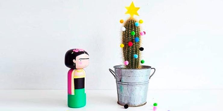 Plantas en lugar de árboles de Navidad
