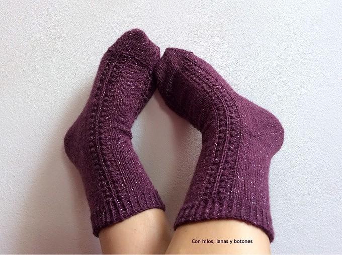 Con hilos, lanas y botones: Celebration Socks (Winter