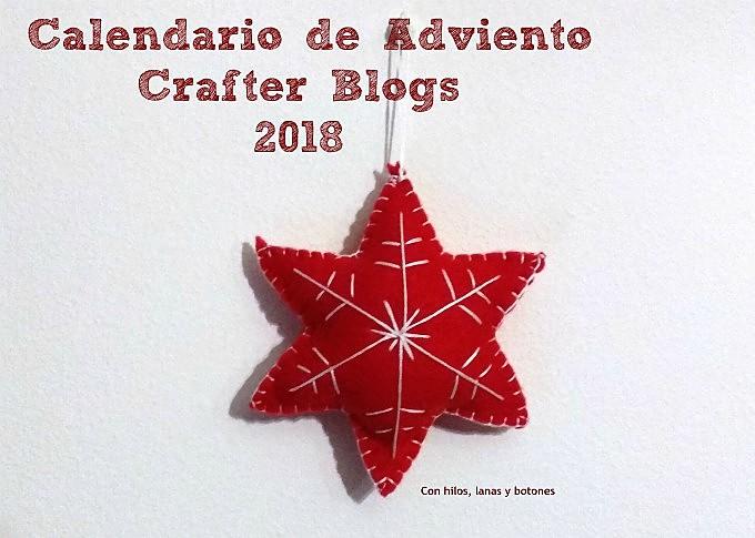 Con hilos, lanas y botones: Calendario de Adviento Crafter Blogs 2018