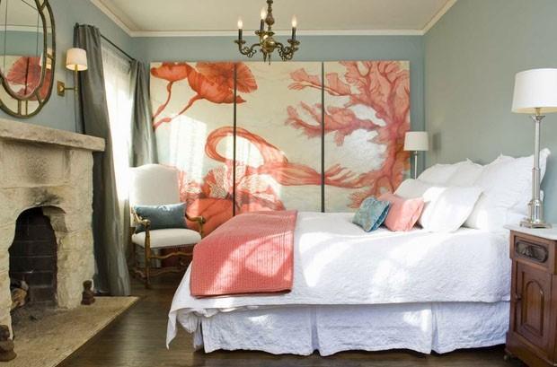 Coral color pantone para el 2019 - detalles decorativos en paneles o textiles - Casa Vogue