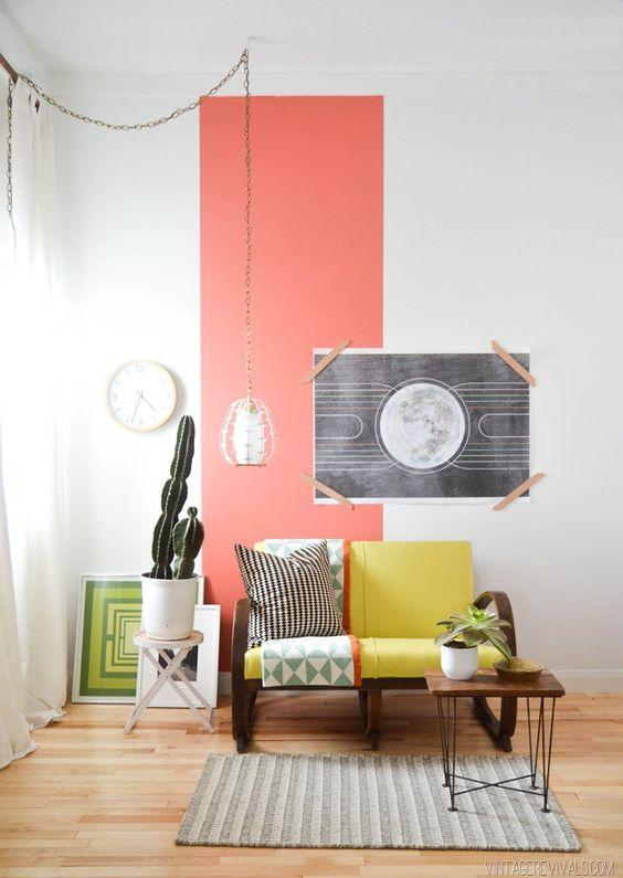 Coral color pantone para el 2019 - Pintar un detalle de la pared
