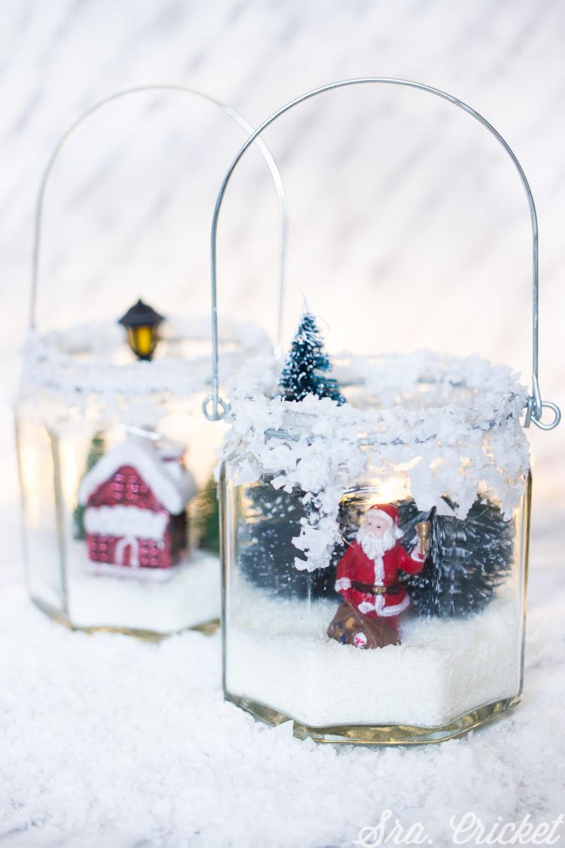 Diy tarros de nieve manualidades de navidad para ni os - Trabajos manuales de navidad para ninos ...