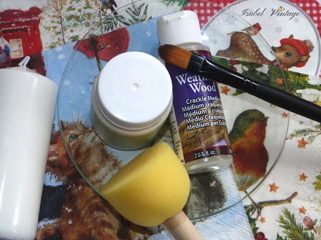 platos-cristal-velas-decoupage-materiales