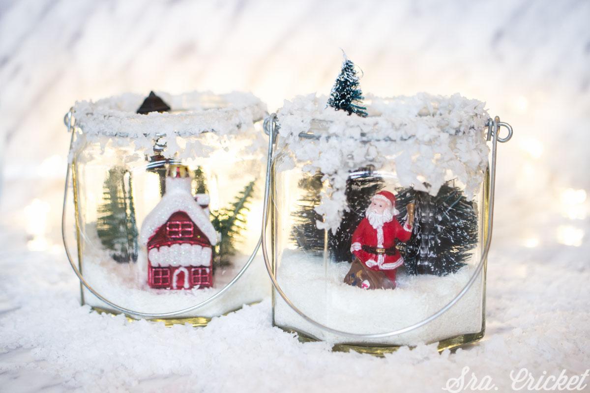 tarros de nieve manualidades navidad niños