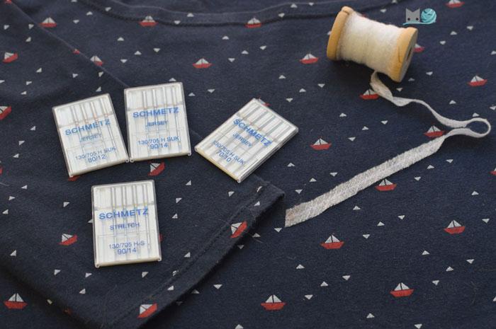 Cómo coser tela punto