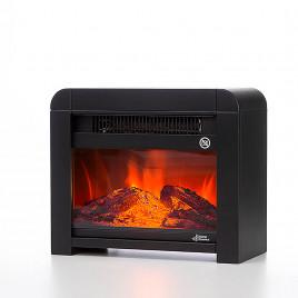 Estufa conn efecto llama imitando chimenea