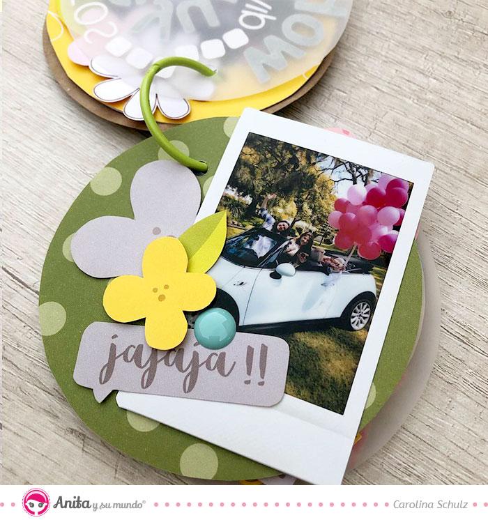 combinar minialbum redondo con fotos cuadradas