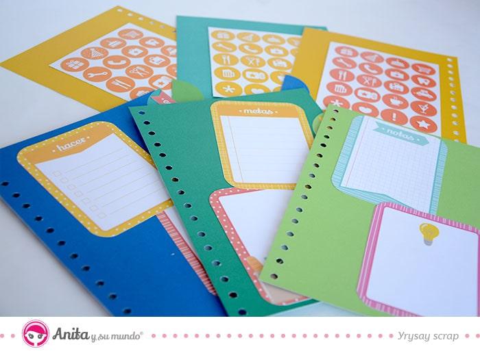 cómo decorar con papel estampado de anita y su mundo