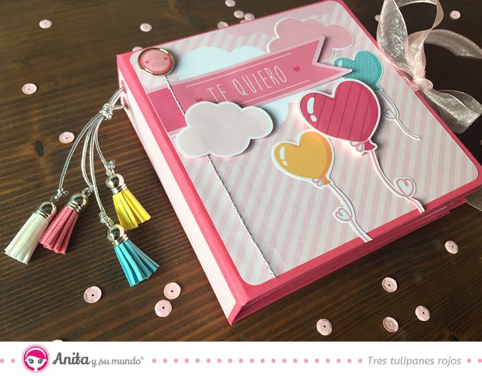 diy mini album romántico scrapbooking