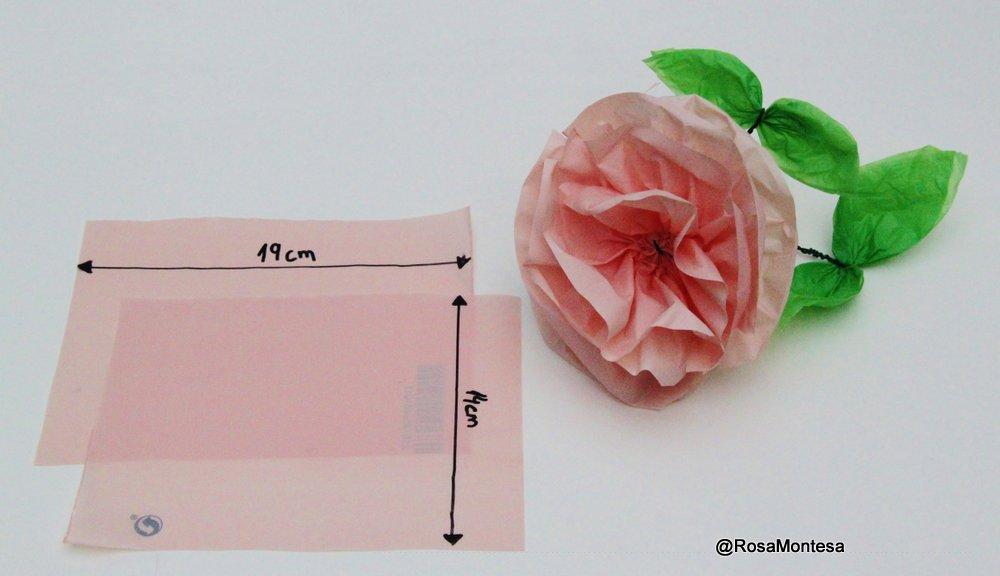 Flores rosas peonías- bolsas plásticas recicladas