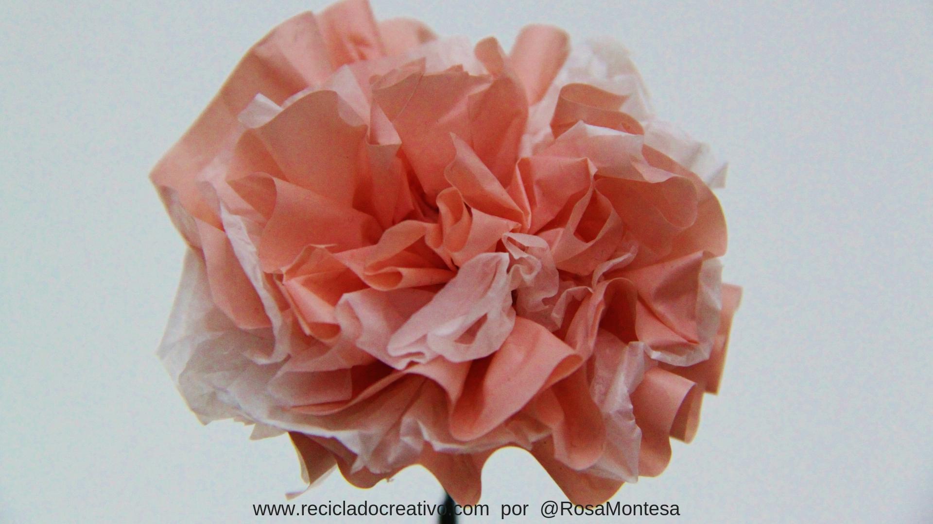 Flores claveles - bolsas plásticas recicladas