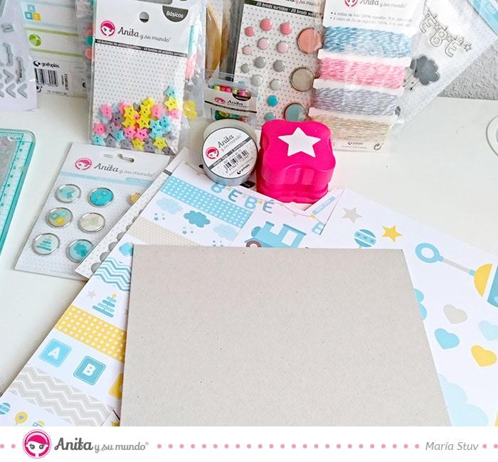 materiales para hacer regalos para bebes con papel