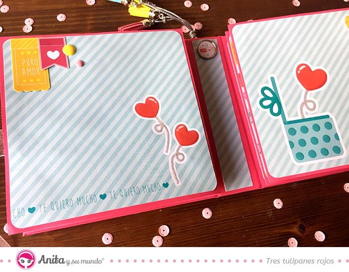 minialbum san valentín scrapbook