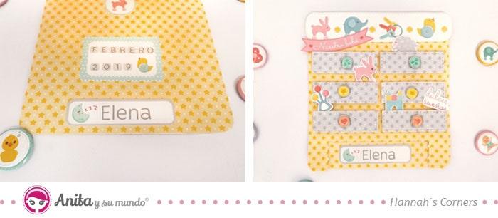 tarjeta de scrapbooking para bebés
