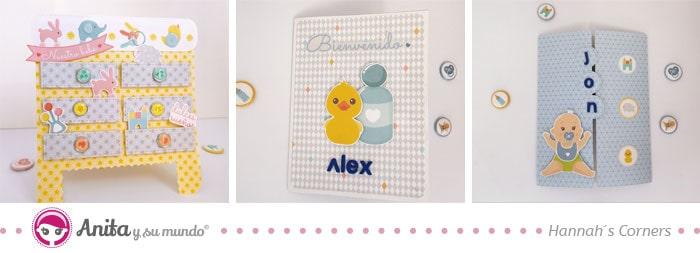 3 modelos de tarjetas de bienvenida para bebés
