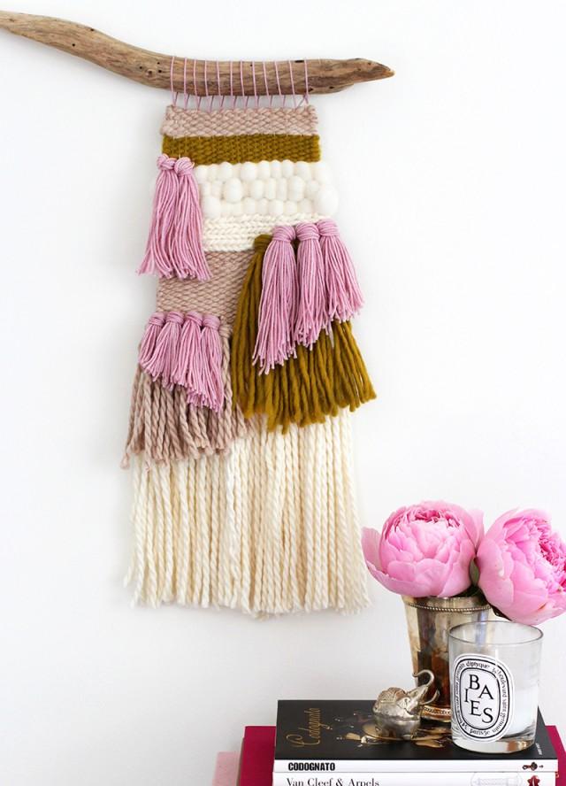 DIY para arte textil tejiendo