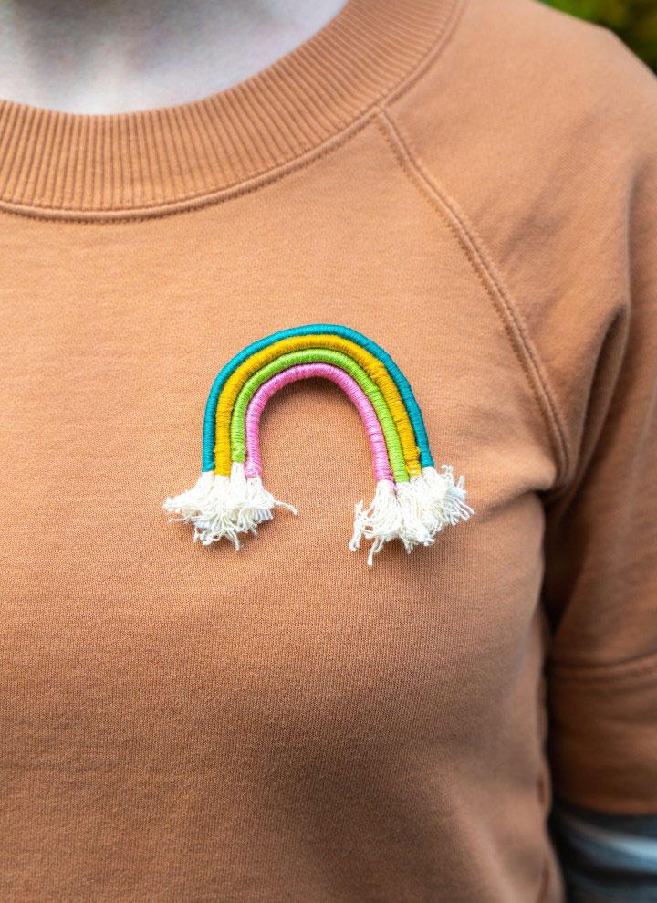 broches arco iris manualidades