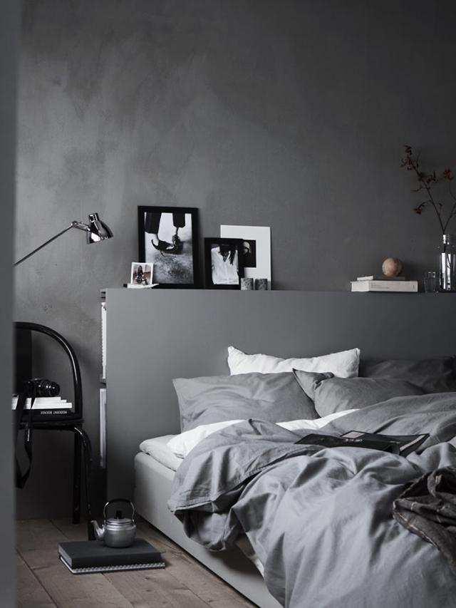 Almacenaje en el cabecero de la cama