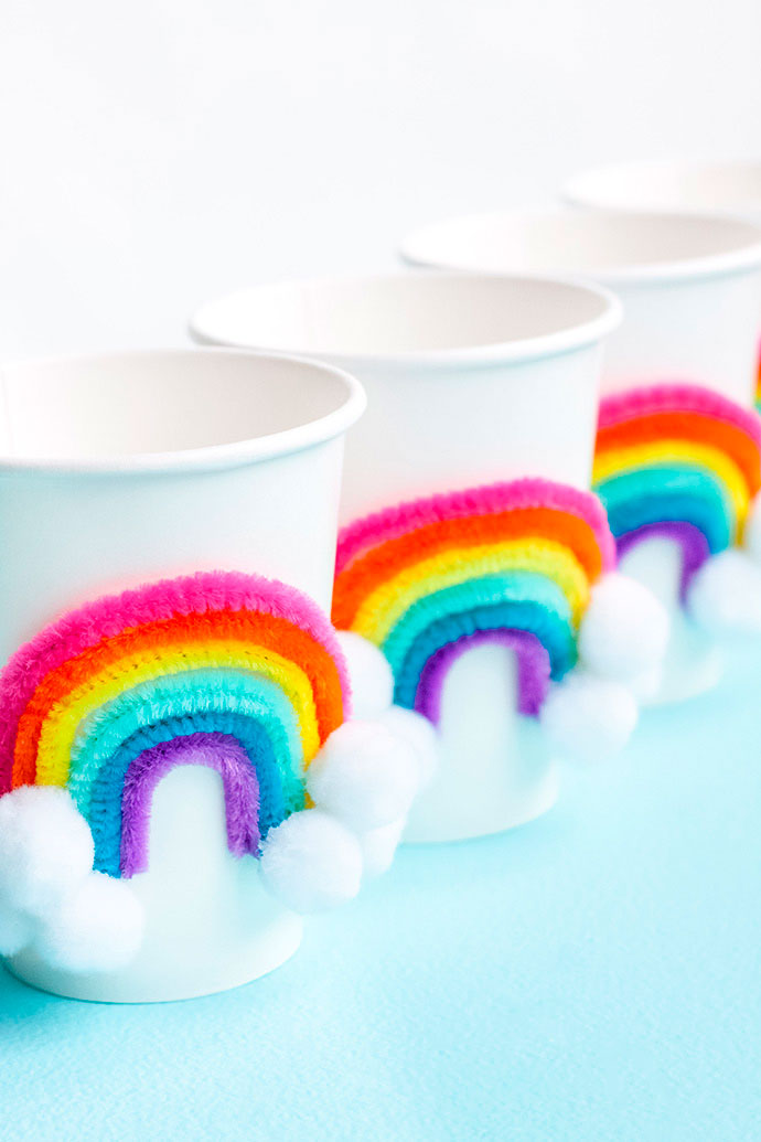 diy vasos rainbow o arco iris