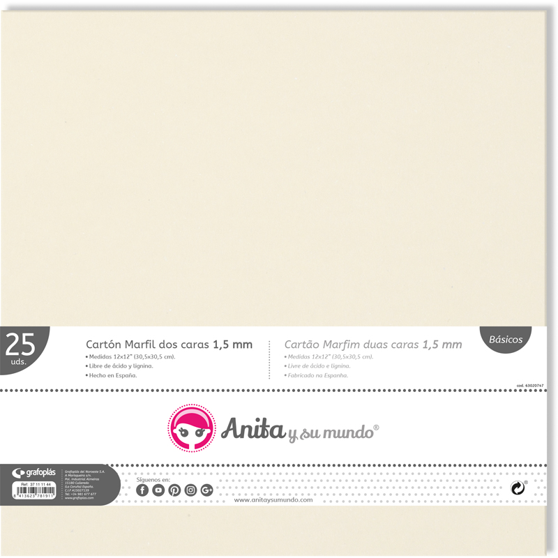 chipboard marfil 1,5mm referencia: 37111144