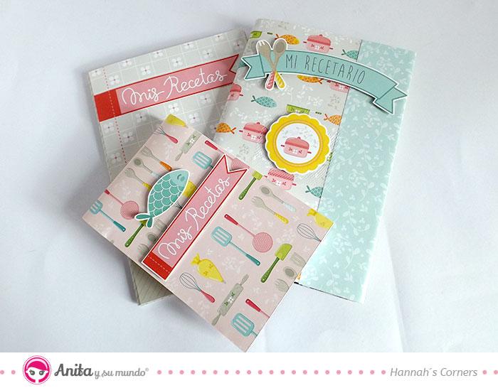 cómo decorar cuadernos con papeles bonitos de scrapbooking