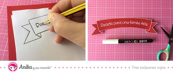 como hacer un banner de papel con plantillas