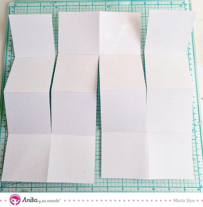 cómo hacer un minialbum con papel estampado