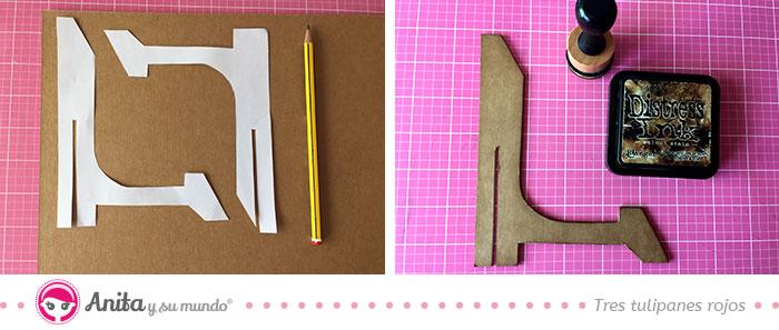 cómo hacer un soporte para marcos con cartón kraft