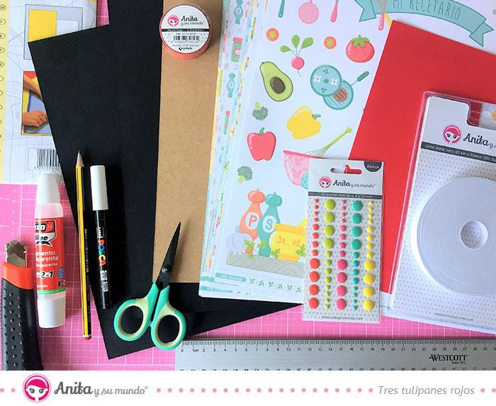 Material de manualidades para decorar la cocina
