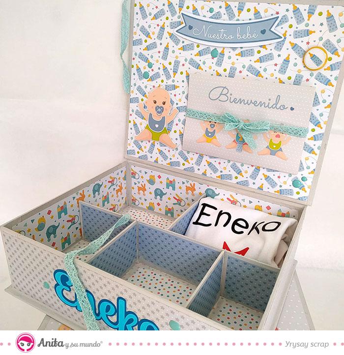 caja con desplegable para bebés