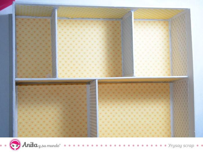 cajas de cartón con compartimentos