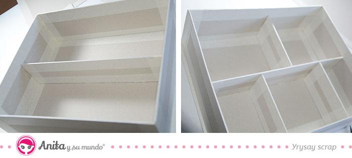 diy cajas de carton con compartimentos