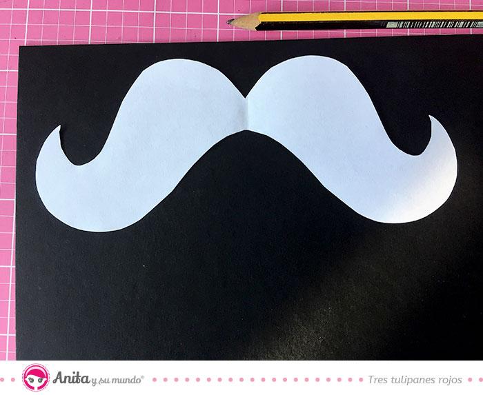 plantilla bigotes para photocall de fiestas