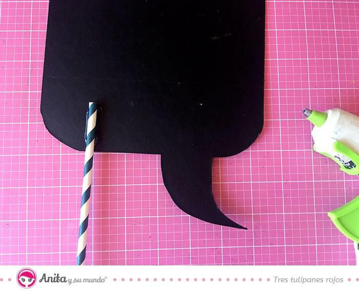 cómo hacer accesorios de photocall con cartón de color