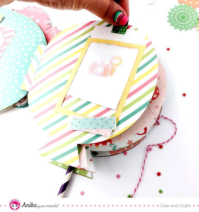 cómo hacer marcos con tarjetas de papel