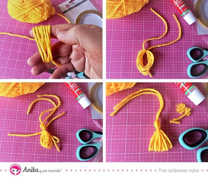 cómo hacer un borlón de lana facilmente