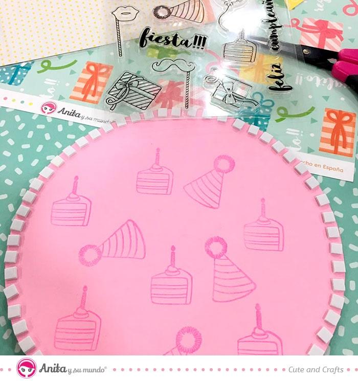 como hacer un maping con sellos de silicona