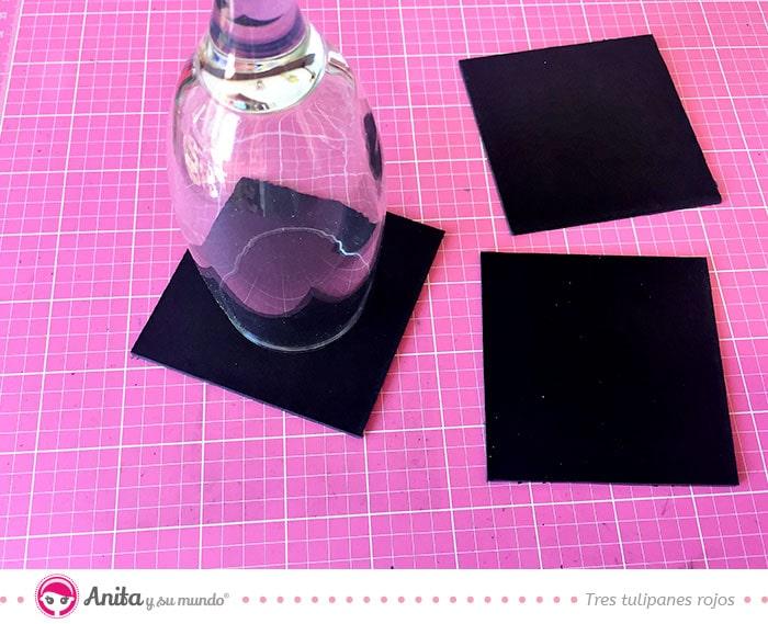manualidades con cartón doble color