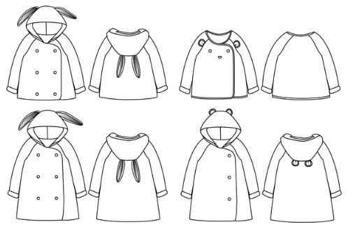 patron abrigo conejo