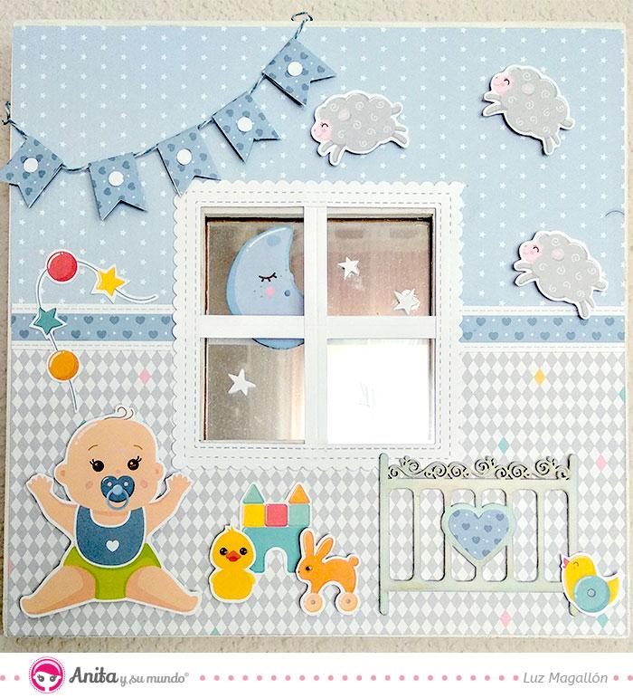cuadro para bebés niños