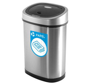 Vinilo adhesivo papelera reciclaje ecología