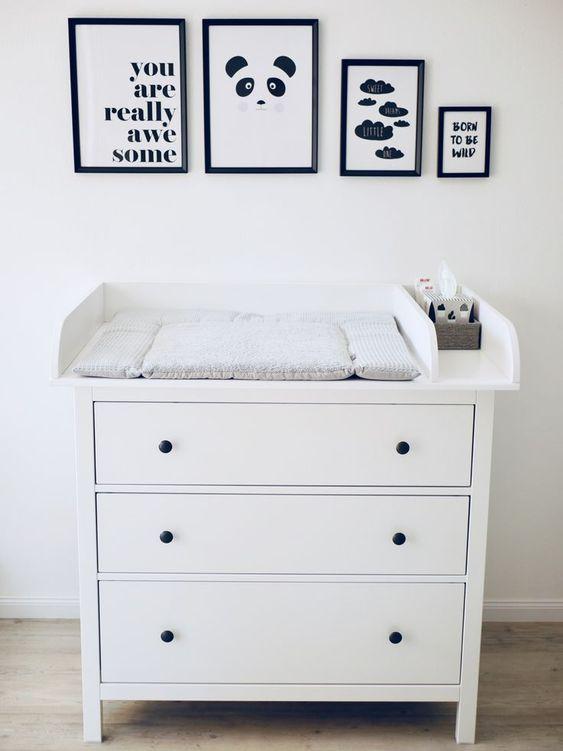 Cabiador de bebé con mueble de Ikea